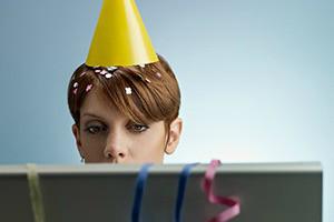 woman at work during celebratios