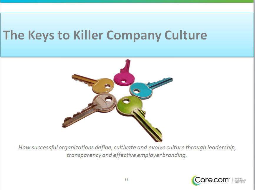 Find the keys to a killer company culture