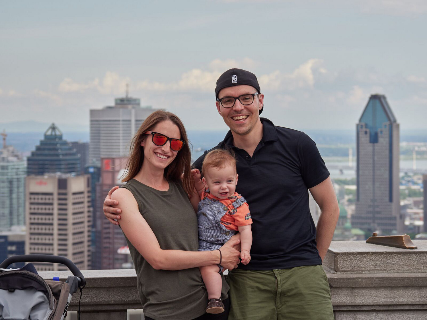 Gabe Shore with his wife, Rachael and their son, Julian