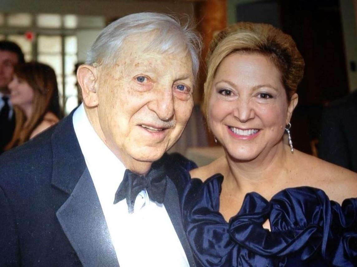 Lynne Satlof-Karas with her father, Melvin