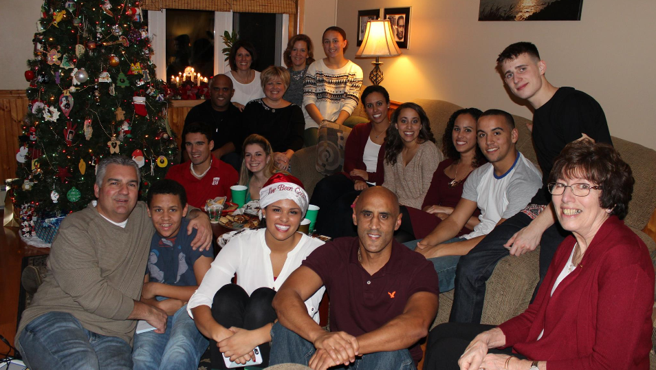 McKayla Andrade and her family at the holidays